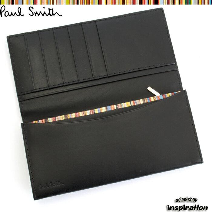 ポールスミス(Paul Smith)財布 長財布〈黒〉(psk907-10)ブラック メンズ