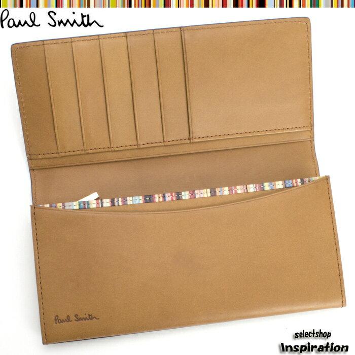 ポールスミス 財布 長財布 Paul Smith キャメル psk907-75 メンズ 紳士