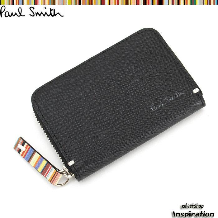 ポールスミス 財布 小銭入れ コインケース 黒 Paul Smith psk860-10 ブラック メンズ 紳士