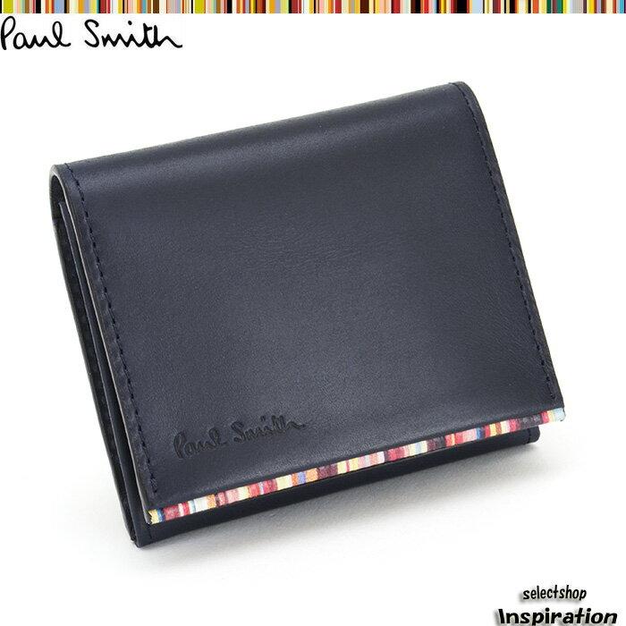 ポールスミス 財布 小銭入れ コインケース 紺 Paul Smith psu050-30 メンズ 紳士