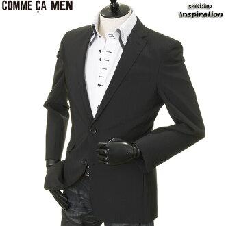 komusamen COMME CA MEN茄克条纹茄克黑515 0704gr07-05黑色人绅士
