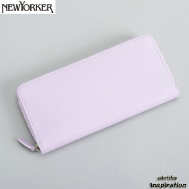 <クーポン配布中>ニューヨーカー NEWYORKER 財布 長財布 ラウンドファスナー パープル nyp280-33 メンズ 紳士