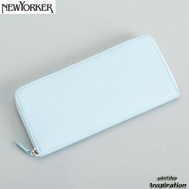 <クーポン配布中>ニューヨーカー NEWYORKER 財布 長財布 ラウンドファスナー スカイブルー nyp280-35 メンズ 紳士