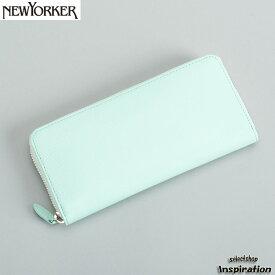 <クーポン配布中>ニューヨーカー NEWYORKER 財布 長財布 ラウンドファスナー エメラルド nyp280-52 メンズ 紳士