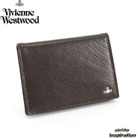 <クーポン配布中>展示品箱なし ヴィヴィアンウエストウッドマン パスケース 定期入れ カードケース 茶系 188 Vivienne Westwood MAN 36381464 メンズ 紳士