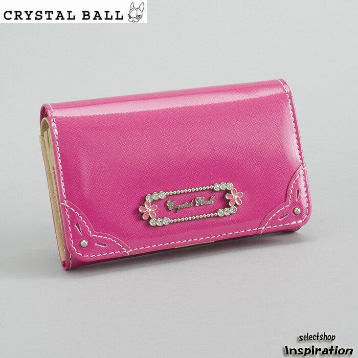<クーポン配布中>展示品箱なし クリスタルボール Crystal Ball 財布 二つ折り財布 ピンク cbk272-24 レディース 婦人