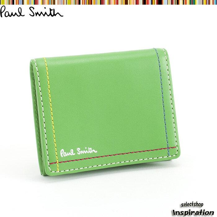 ポールスミス 財布 小銭入れ コインケース グリーン Paul Smith psk702-50 ブランド メンズ 紳士
