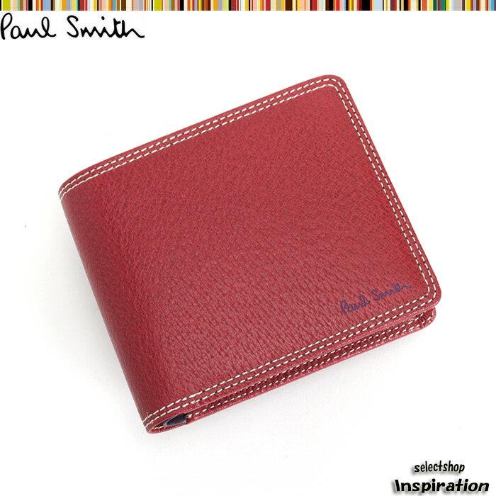 ポールスミス Paul Smith 財布 二つ折り財布 赤 psp617-20 レッド メンズ 紳士