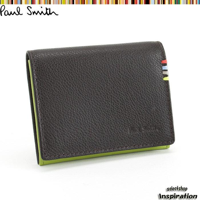 ポールスミス Paul Smith 財布 小銭入れ コインケース 濃茶 psu001-71 ブラウン メンズ 紳士