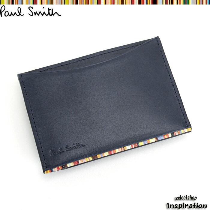 <クーポン配布中>ポールスミス パスケース 定期入れ カードケース 紺 psu051-30 ネイビー メンズ 紳士