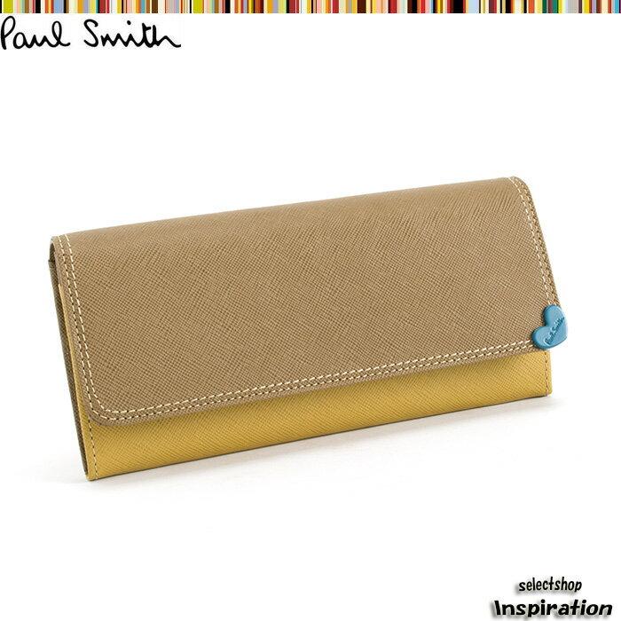 展示品箱なし ポールスミス 財布 長財布 マスタード Paul Smith pwu096-40 レディース 婦人