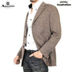 <クーポン配布中>アクアスキュータム ジャケット 925 茶系 Aquascutum a9560206-86 メンズ 紳士