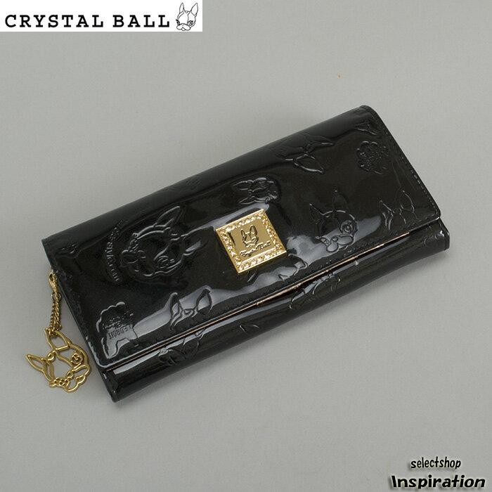 <クーポン配布中>訳あり クリスタルボール 財布 長財布 黒 Crystal Ball cbk004-10 b レディース 婦人
