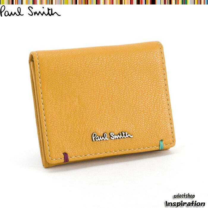 ポールスミス 財布 小銭入れ コインケース イエロー Paul Smith psu750-40 ブランド メンズ 紳士