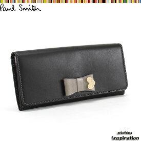 <クーポン配布中>ポールスミス 財布 長財布 黒 Paul Smith pww784-10 ブランド レディース 婦人