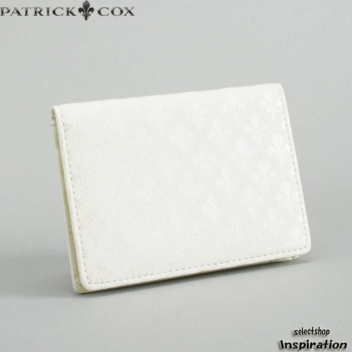 <クーポン配布中>展示品箱なし パトリックコックス パスケース 定期入れ カードケース 白 PATRICK COX pxmw9ep1-00 ブランド メンズ 紳士