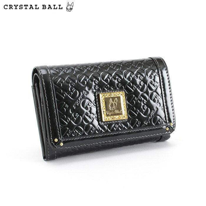 <クーポン配布中>クリスタルボール Crystal Ball 財布 二つ折り財布 黒 cbk162-10 レディース 婦人