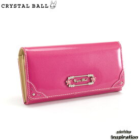 <クーポン配布中>訳あり展示品箱なし クリスタルボール 財布 長財布 ピンク Crystal Ball cbk273-24 b レディース 婦人