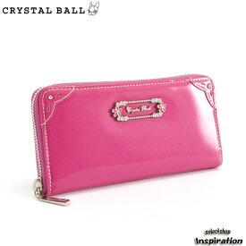 <クーポン配布中>展示品箱なし クリスタルボール 財布 長財布 ラウンドファスナー ピンク Crystal Ball cbk275-24 レディース 婦人