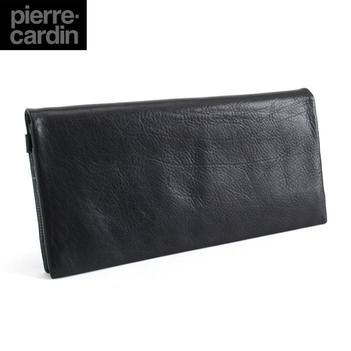 展示品箱なし ピエールカルダン Pierre Cardin 財布 長財布 黒 pck994-10 メンズ 紳士