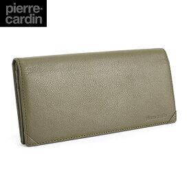 <クーポン配布中>展示品箱なし ピエールカルダン Pierre Cardin 財布 長財布 オリーブ pcs207-56 メンズ 紳士