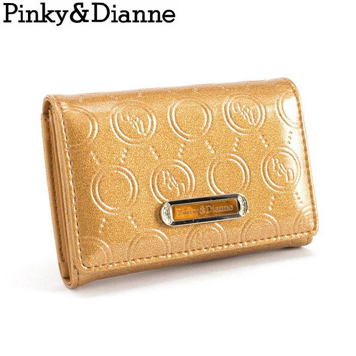 訳あり展示品箱なし ピンキー&ダイアン Pinky&Dianne 名刺入れ カードケース オレンジ pdlw2bm1-46 b レディース 婦人