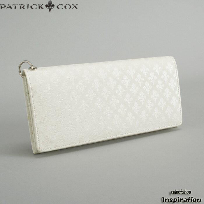<クーポン配布中>訳あり展示品箱なし パトリックコックス PATRICK COX 財布 長財布(リング付き) 白 pxmw9et2-00 b メンズ 紳士