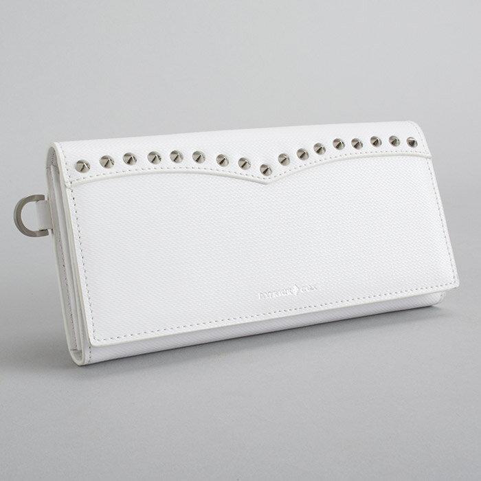 展示品箱なし パトリックコックス PATRICK COX 財布 長財布 白 20150311-1 メンズ 紳士