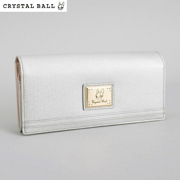 訳あり展示品箱なし クリスタルボール 財布 長財布 シルバー Crystal Ball cbk233-61 b レディース 婦人