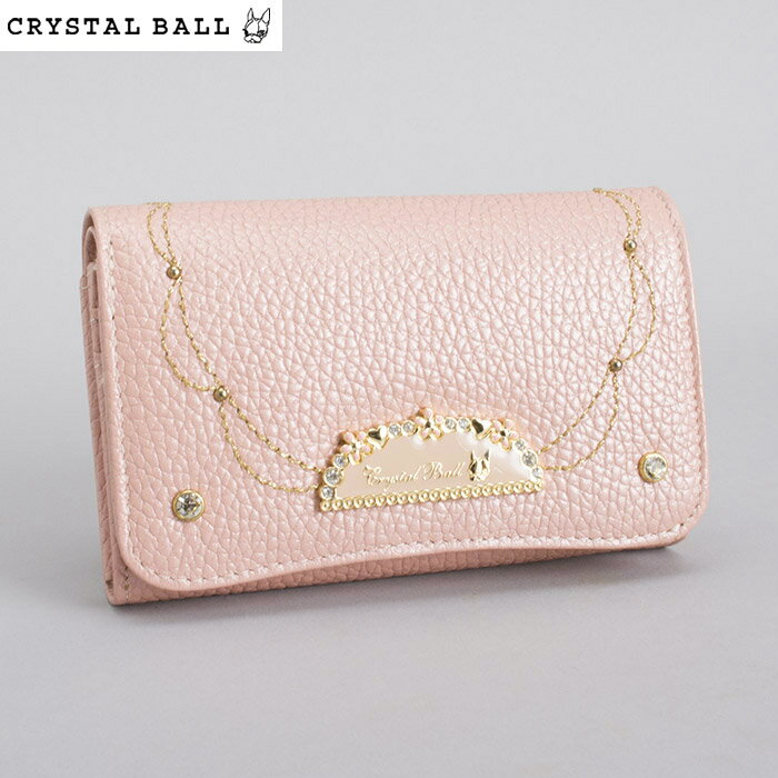 <クーポン配布中>クリスタルボール Crystal Ball 財布 二つ折り財布 ピンク cbk252-24 レディース 婦人