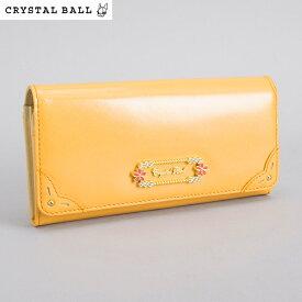 <クーポン配布中>展示品箱なし クリスタルボール 財布 長財布 オレンジ Crystal Ball cbk273-42 レディース 婦人