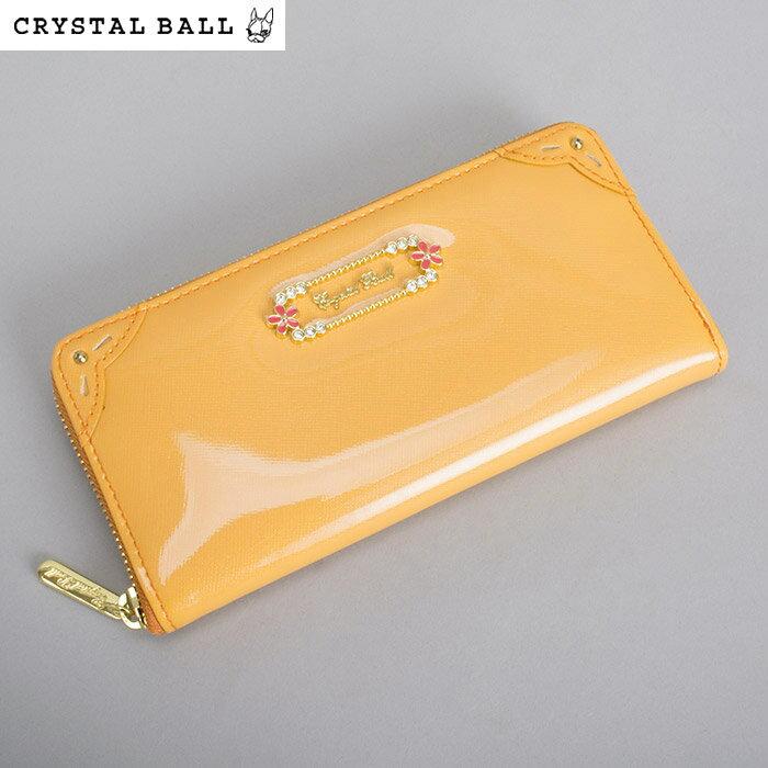 <クーポン配布中>クリスタルボール 財布 長財布 ラウンドファスナー オレンジ 展示品箱なし Crystal Ball cbk275-42 レディース 婦人