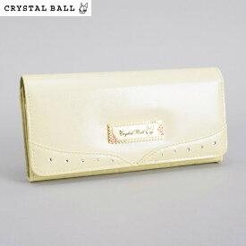 訳あり展示品箱なし クリスタルボール 財布 長財布 ベージュ Crystal Ball cbk293-90 b レディース 婦人
