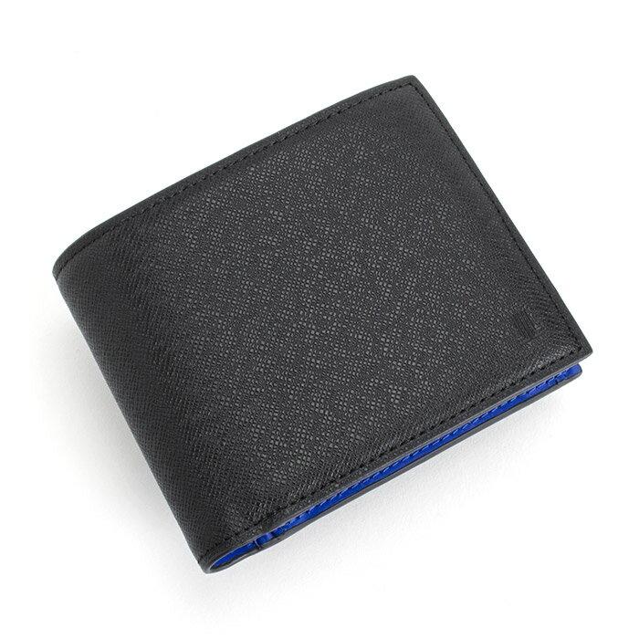 訳あり展示品箱なし ランバンコレクション 財布 二つ折り財布 黒 jlmw0gs4-10 b LANVIN collection メンズ 紳士