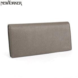 <クーポン配布中>ニューヨーカー 展示品箱なし NEWYORKER 財布 長財布 チャコールグレー nyk151-13 メンズ 紳士