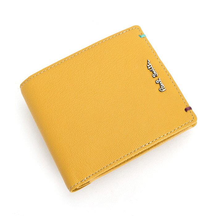 ポールスミス Paul Smith 財布 二つ折り財布 イエロー psu754-40 メンズ 紳士