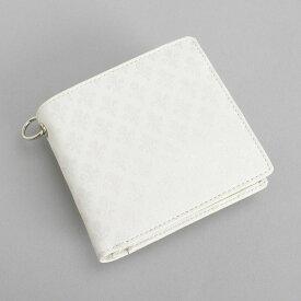 <クーポン配布中>展示品箱なし パトリックコックス 財布 二つ折り財布 (リング付き) 白 PATRICK COX pxmw9es3-00 メンズ 紳士
