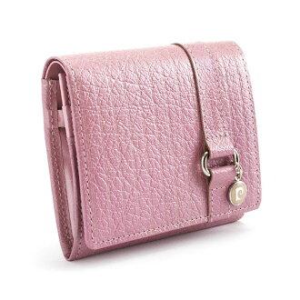Pierre Cardin Pierre Cardin wallet two-fold wallet pink pck961-24 ladies Lady