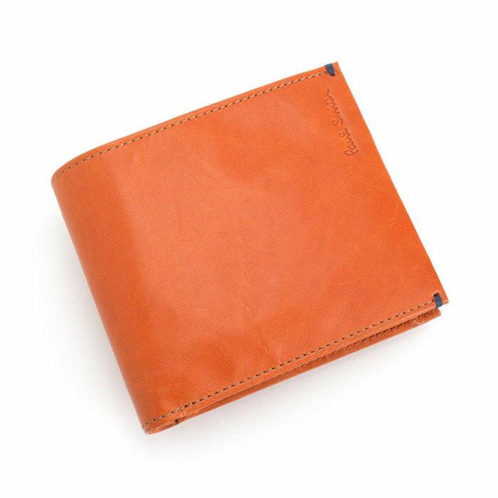 ポールスミス 財布 二つ折り財布 オレンジ Paul Smith psu665-42 メンズ 紳士