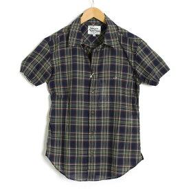 <クーポン配布中>ヴィヴィアンウエストウッドマン シャツ 半袖 Vivienne Westwood MAN 紺系 vwcr82082-175 メンズ