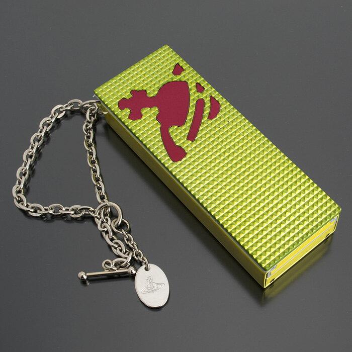 展示品箱なし ヴィヴィアンウエストウッド 灰皿 携帯灰皿 黄緑系 VivienneWestwood 20150804-6 メンズ レディース