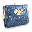 アナスイ 財布 三つ折り財布 がま口財布 ブルー系 ANNA SUI 307212-80 レディース 婦人 バタフライ