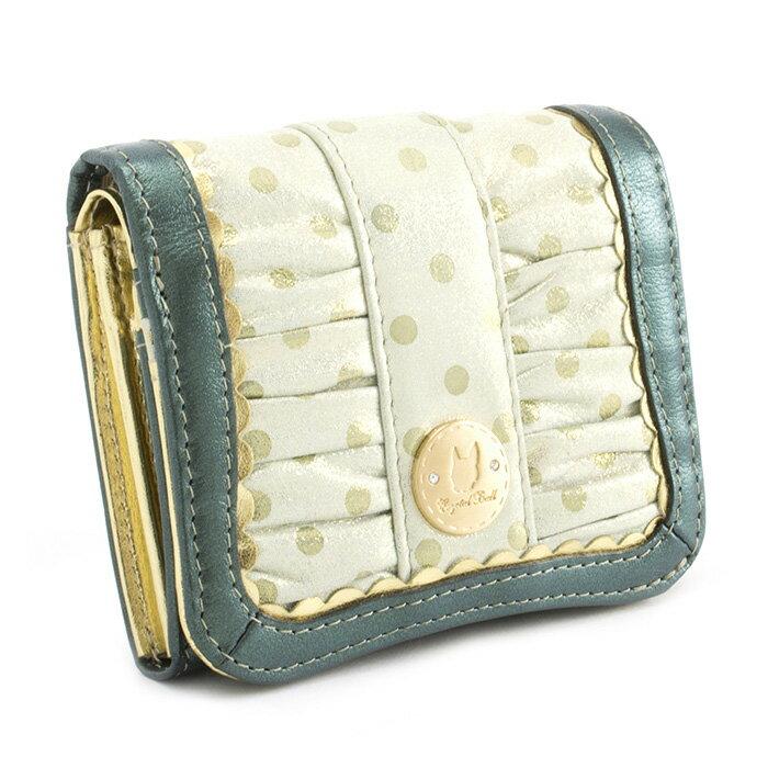 <クーポン配布中>展示品箱なし クリスタルボール 財布 二つ折り財布 グリーン Crystal Ball cbk222-50 レディース 婦人