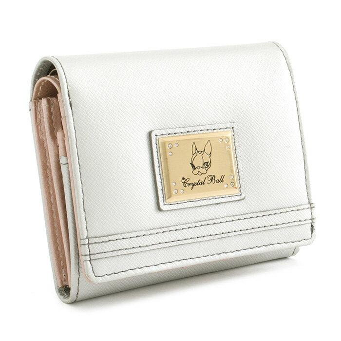 <クーポン配布中>展示品箱なし クリスタルボール 財布 二つ折り財布 シルバー Crystal Ball cbk232-61 b レディース 婦人