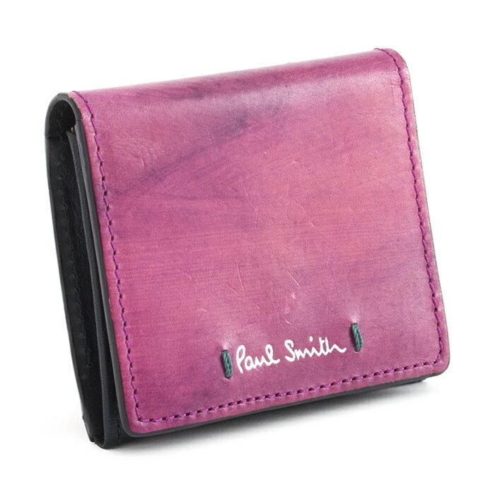 展示品箱なし ポールスミス 財布 小銭入れ コインケース ピンク(内側:黒) Paul Smith psu890-24 b メンズ 紳士