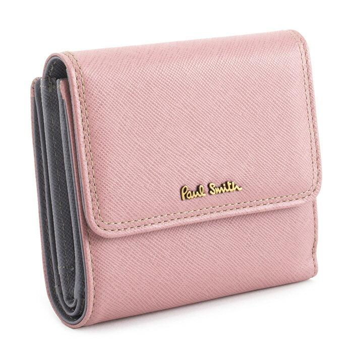 <クーポン配布中>展示品箱なし ポールスミス 財布 二つ折り財布 ピンク Paul Smith pww803-24 レディース 婦人