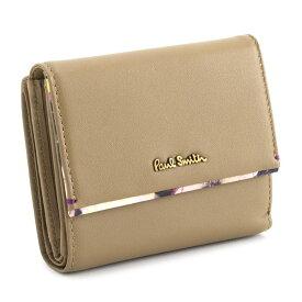 <クーポン配布中>展示品箱なし ポールスミス 財布 二つ折り財布 ベージュ Paul Smith pwa363-90 レディース 婦人