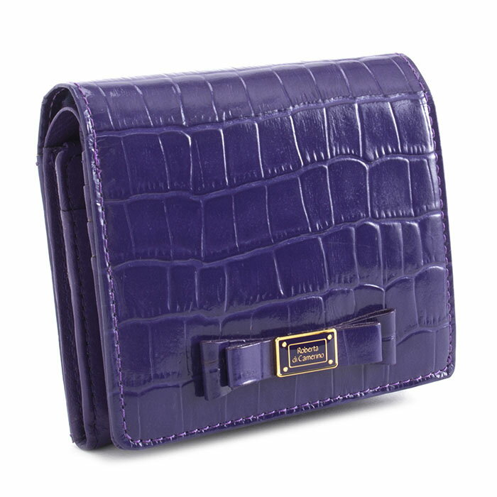 <クーポン配布中>ロベルタディカメリーノ 財布 二つ折り財布 パープル Roberta di Camerino rbi544-34 レディース 婦人