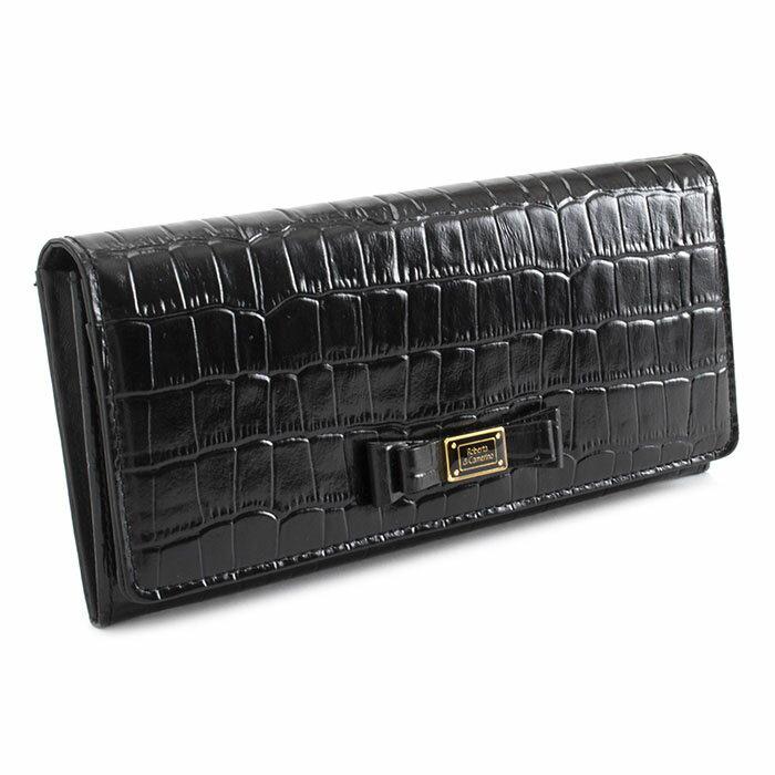 <クーポン配布中>展示品箱なし ロベルタディカメリーノ 財布 長財布 ブラック Roberta di Camerino rbi546-10 レディース 婦人