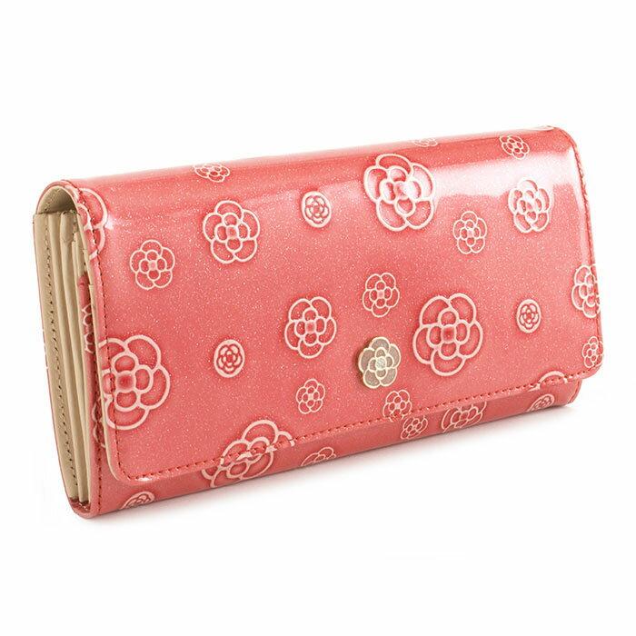 <クーポン配布中>展示品箱なし クレイサス 財布 長財布 ピンク系(コーラルピンク系) CLATHAS 184680-35 レディース 婦人
